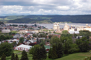La Baie, Quebec - Borough of La Baie (in blue) in the City of Saguenay