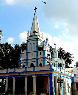 Our Lady of Lourdes Shrine, Villianur Church in Puducherry, India