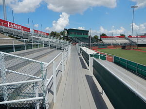 Vincent–Beck Stadium - Image: Vincent Beck Stadium grandstands from the right field seats