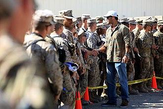 Vincent Jackson - Jackson, in 2013 during a visit at Camp Leatherneck in Afghanistan