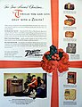 "Vintage Radio Advertising - Zenith Radio, ""For Your Merriest Christmas . . . Thrills You Can Give Only With A Zenith!"", Circa 1946 (9710153027).jpg"
