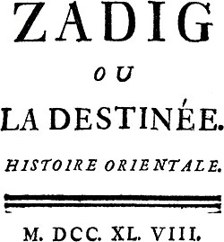 Image illustrative de l'article Zadig