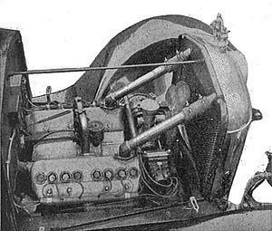 V8 engine - V8 Vulcan engine, about 1919