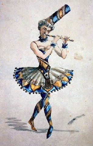 Vzevolozhsky's costume sketch for Nutcracker