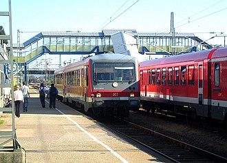 Strasbourg–Wörth railway - Train to Lauterbourg in Wörth station