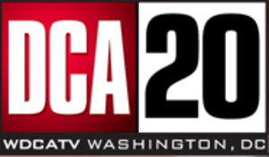 "WDCA - Logo as ""DCA 20"" following the CW announcement, January to May 2006."