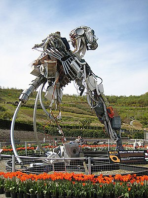 Waste Electrical and Electronic Equipment Directive - WEEE Man at the Eden Project