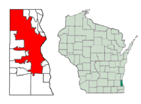 Location of Milwaukee in Milwaukee County, Wis...