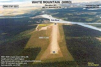 White Mountain Airport - Image: WMO e