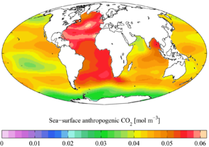 "Global Ocean Data Analysis Project - ""Present day"" anthropogenic CO2"