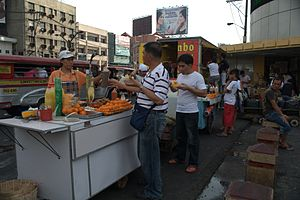 Street food in Manila, Philippines