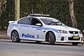 Wagga Wagga LAC Highway Patrol (WW 204) Holden VE Commodore SS parked in Beackwith St.jpg
