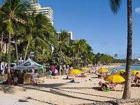 Waikiki beach near Hyatt Regency - panoramio.jpg