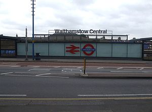 Victoria line - Image: Walthamstow Central stn new entrance