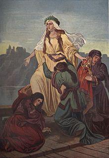Obraz Maksymiliana Piotrowského Smrt Wandy