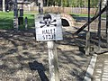 Warning near by the entrance to Auschwitz I.jpg