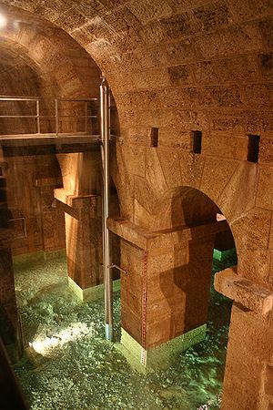 First Vienna Mountain Spring Pipeline - Inside the water tower at Kaiserbrunnen