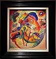 Wassily kandinsky, bozzetto per improvvisazione con anelli rossi-blu, 1913.jpg