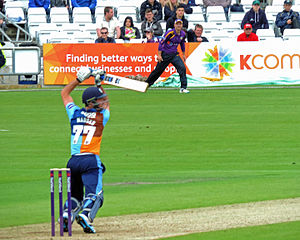 Wayne Madsen (cricketer) - Madsen batting for Derbyshire in 2014.
