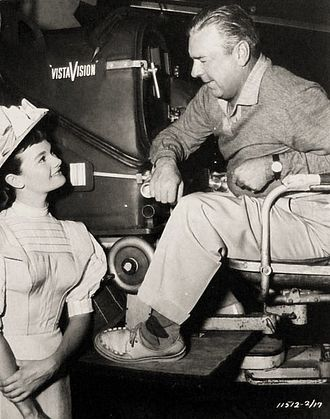 Loyal Griggs - On set of We're No Angels (1955 film), Gloria Talbott and Loyal Griggs