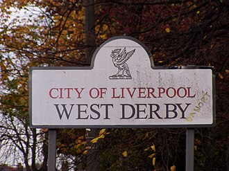 West Derby - Image: West Derby Sign