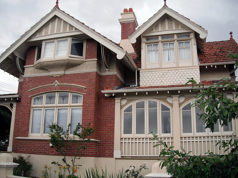 Federation house gothic queen anne style for Home designs tasmania