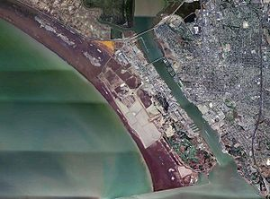 Mare Island Naval Shipyard - Aerial photo of southern Mare Island and the shipyard facility