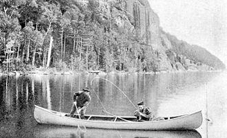 E.M. White Canoe Company - Fishing from an EM White canoe