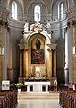 Wien - Pfarrkirche hl. Johann Evangelist, Altar, Keplerplatz.JPG