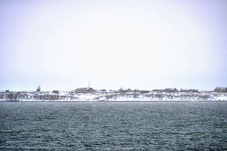 Vize Island - View of the Arctic research station on Vize Island