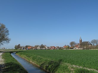 Wijnaldum - Wijnaldum, view facing the village