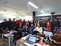 Wikipedistas trabajando en el Editatón 'Wikipedia ama el cine' 20.JPG
