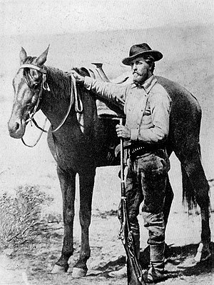 William Henry Jackson - William Henry Jackson, as a member of the U. S. Geological Survey exploring the Teton country in 1872