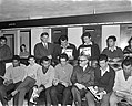Willy Schobben bood spelers van Benfica plaat aan Willy Schobben met spelers va, Bestanddeelnr 915-0295.jpg