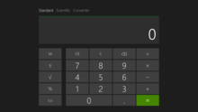 Windows 8 1 S Additional Metro Style Calculator In Standard Mode