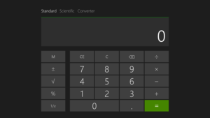 Windows Calculator - Windows 8.1's additional Metro-style calculator in standard mode