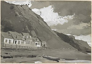 Anse-au-Foulon - Wolfe's Cove, by Winslow Homer, 1895
