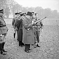 Winston Churchill inspects the new Lee-Enfield No. 4 Mk 1 rifle during a visit to 53rd Division in Kent, 20 November 1942. H25436.jpg
