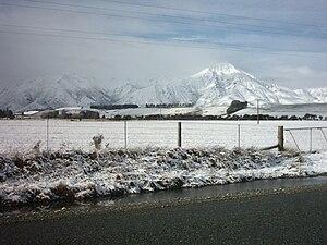 English: A winter landscape in western Southla...
