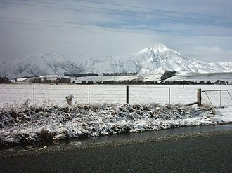 Southland, New Zealand - A winter scene in western Southland, at the edge to Fiordland