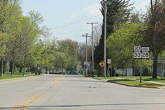 Wisconsin Highway 28 - Southwest terminus in Horicon