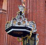 Wismar, St. Nikolai, der Kanzelkorb.JPG