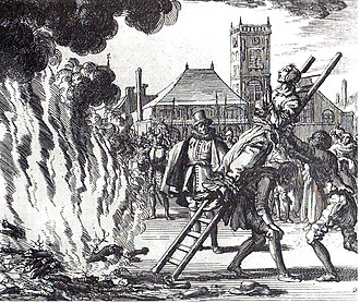 Spanish Inquisition - The burning of a 16th-century Dutch Anabaptist, Anneken Hendriks, who was charged with heresy