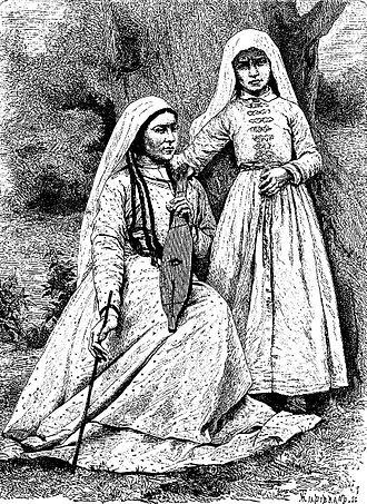 Apkhyarta - Image: Women of Zugdidi (Hildibrand, 1884)