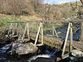 Wooden bridge across the Afon Ystumiau. Dolwyddelan. - geograph.org.uk - 1278614.jpg