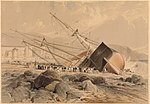 Wreck of the Dart (Sketched on the Morning after the Storm of the 25th Octr 1842) at Madeira.jpg