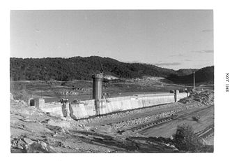 Wyangala Dam - Wyangala Dam construction, November 1966
