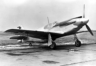 North American P-51 Mustang - XP-51 41-039, one of two Mustang Mk I aircraft handed over to the USAAC for testing