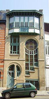 Sprossenfenster Des Art Nouveau: Lu0027atelier Du Maître Verrier Sterner In Der  Rue Du Lac 6, Ixelles. Architekt: Ernest Delune, 1904, Brüssel