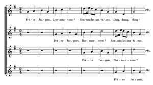 Frère Jacques - Sheet music
